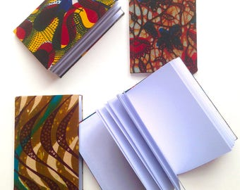 Notebook in wax, fabric, notebooks, notebook, diary, notebook or sketchbook sketches, white pages and cover in wax