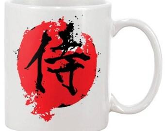 Samurai Fan Gift - Samurai Coffee Mug - Samurai  Coffee Cup - Bushido Gifts - Samurai Drinker Coffee Mugs - Gifts for Him - Husband Gifts
