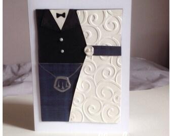 Scottish Wedding Card- Bride - Groom - Kilt - Dress- Special couple - Anniversary - UK Free Postage