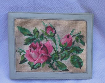 Vintage wallet years 70 embroidered by hand! Hand Embroidered Vintage 70s Wallet