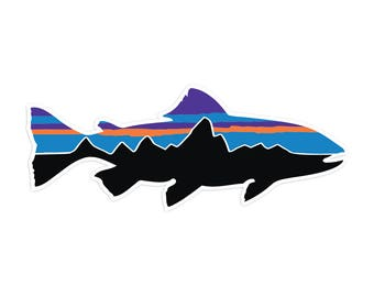 "Patagonia Fish Sticker - 7.5"" Wide"