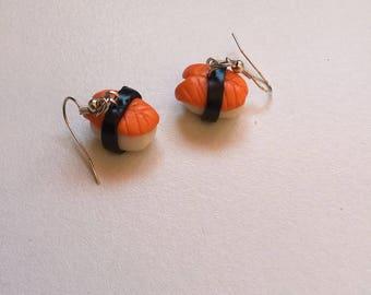 little salmon sushi earring