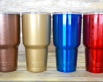 Powder Coated YETI Tumbler Engraved, Custom YETI 30oz Tumbler, Laser Engraved yeti, Vinyl personalized yeti