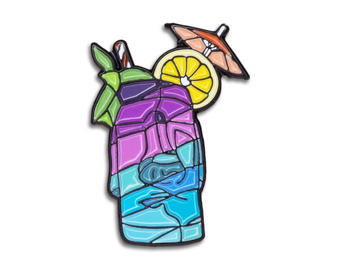 Easter Island Tiki Blue Pin