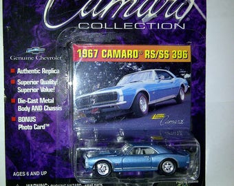 1967 Camaro RS/SS 396 Johnny Lightning new on card 1/64th diecast