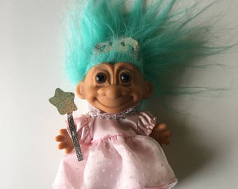 Russ Treasure Troll princess fairy girlie turquoise vintage girls toy