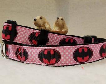 Super Hero Handmade Dog Collar 1 Inch Wide Large & Medium