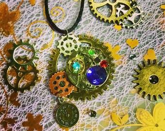 Clock Part Necklace