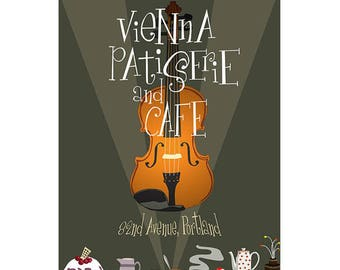Vienna Patisserie Cafe Art Poster