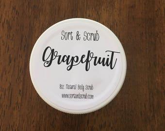 Grapefruit body scrub - 8oz jar