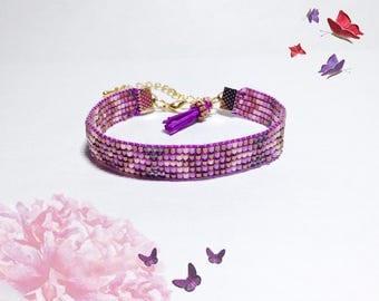 Jewelri lilac Bracelet handmade handmade beads