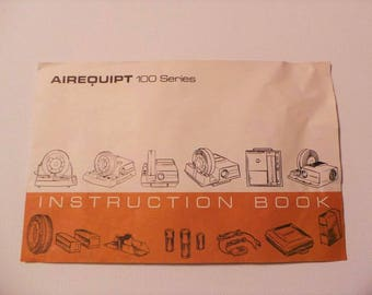 Vintage Airequipt 100 Series Slide Projector Owners Operator Manual