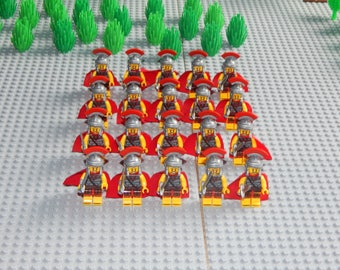 20 minifigures Roman Legion with sword, Romans, LEGO, custom, new