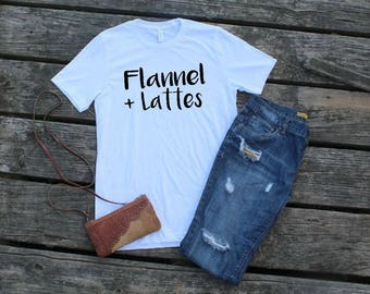 Flannel and Lattes T-Shirt