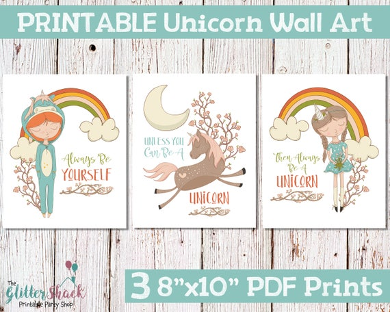 Great Gifts For Tween Girls - Printable Unicorn Pictures
