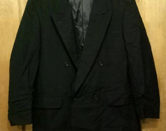 Rare!! KANSAI FORMAL coats nice design black colour XL size