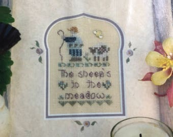 Vintage Shepherds Bush The Sheep's in the Meadow, Counted Cross Stitch Kit
