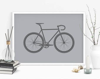 Monochrome gift for cyclist, cycling gift, bike gift, bicycle gift, cycling wall art, gallery wall