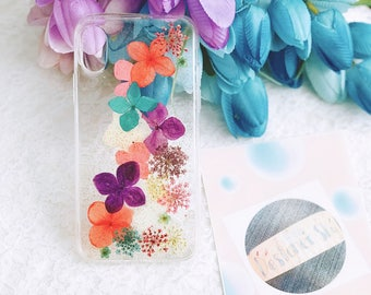 For iphone 10 Handmade pressed flowers Bling sparkle cellphone Silicone soft case for iphone 10 iphone X  gold glitter case cover