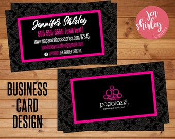 Paparazzi Business Cards, Home Office Approved, Branding, Business Cards, Marketing, Direct Sales, Customized, Fashion Consultant, Jewelry