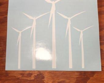 Windmills Wind Turbines Decal