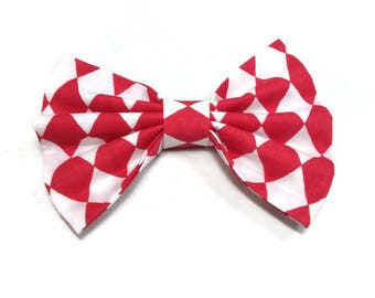 For dog Red white diamond geometric bow tie for men dog cat, ring bearer outfit mens bowtiesmatching