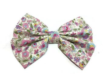 Pastel floral pet bow tie cat , adult bowtire men matched removable bowties for pet owners giftsideas