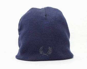 Fred Perry Beanie PRE OWNED Fred Perry Blue Beanie Made In China Free Size