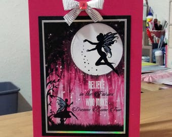 Female/Girl - Fairy/Magic/Fantasy Birthday Card - luxury personalised quality bespoke UK - Mum/Grandma/Daughter/Aunt/Niece/Sister