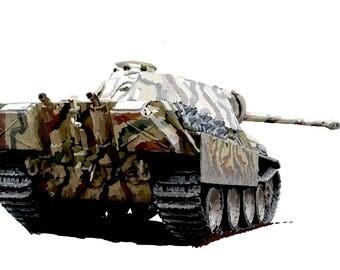 Panther World War 2 Fine Art Print