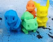 3D Printed Pokemon Figures