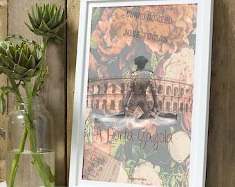 Matador flowers A4 unframed print