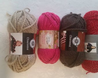 Lot of 4 Yarns  beautiful colors