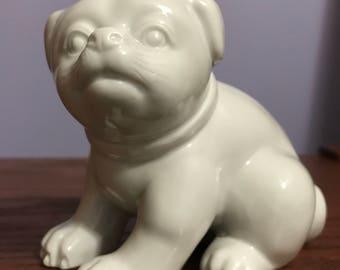 PORCELAIN PUG DOG made by  Fitz & Floyd Inc. # M C M L X X V I I