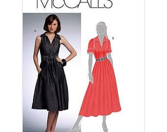 "McCall's M5801 ""Made-For-You"" Shirtdress Sewing Pattern Size A5 (6-8-10-12-14) Uncut"
