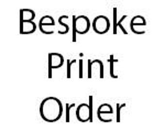 Bespoke Design Fee - Print Orders