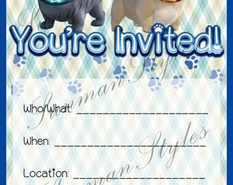 Puppy Dog Pals Birthday Invitation