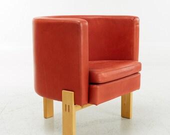 Erik Karlstrom Lounge Chair In Leather