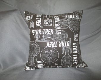 Star Trek Ship Enterprise 16x16 Decorative Throw Pillow (with Insert)