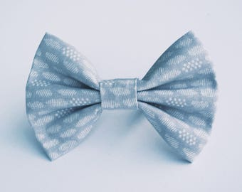 Pewter and Dots Bow Tie- All Sizes