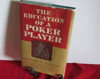 "Hard cover ""The Education of a Poker Player"" by Herbert Yardley"