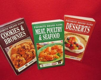 "Set of Three ""Favorite Brand Name"" Cook Books"