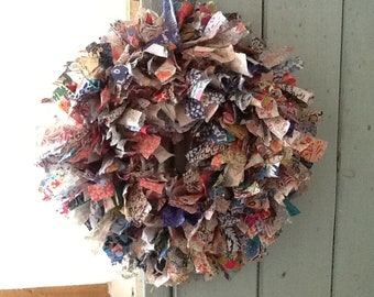 Handmade Liberty fabric wreath