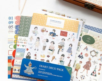 Stickers deco pack 9 sheets set diary 4