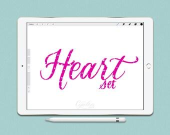 Procreate Brush Set Heart