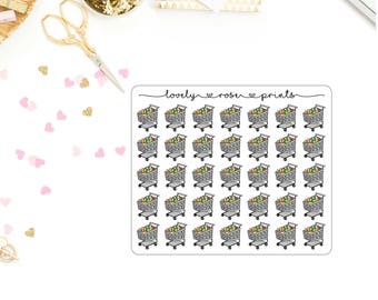 Groceries Functional Planner Stickers