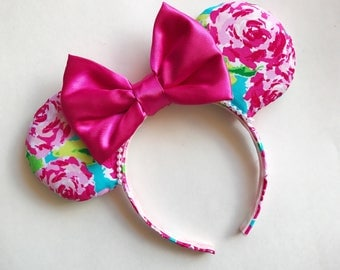 Lilly Pulitzer First Impression  Minnie Mouse Ears