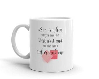 Mug- Handlettered Starburst Love / Funny / Calligraphy