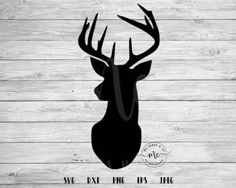 stag svg, deer svg, stag cutting file, deer cutting file, Cricut, Silhouette, Cut Files, svg, dxf, png, eps, jpeg