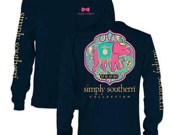 Simply Southern Long Sleeve Elephant Shirt